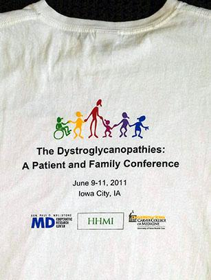 2011 Wellstone Dystroglycanopathies Conference Shirt