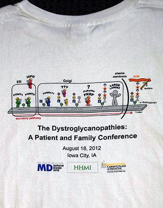 2012 Wellstone Dystroglycanopathies Conference Shirt
